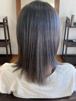 ヘアーメイク ラポール(HAIR MAKE RAPPORTS)の写真/美容業界大注目の《イルミナカラー》導入!!今までにない透明感とツヤ感をプラスして柔らかな印象に…♪