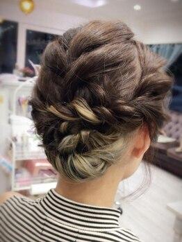 カリーナヘアー(carina hair)の写真/【ヘアーセット¥3240~】周りと差をつけるこだわりヘアーセット☆イベント前にオシャレをして気分もUP♪