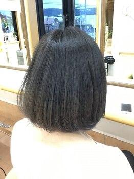 美容室 ナガタ(NAGATA)の写真/1人1人の髪質、クセ、毛量、毛流などに合わせたカット★乾かすだけでキマるおさまりの良いスタイルに!