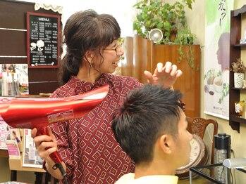 美容室 ズーム(ZOOM)の写真/マンツーマンのプライベートサロンで、寛ぎながら癒しのサロンTime♪頭皮ケアからスタイルチェンジまで!!