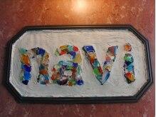 ナビィ(NAVI)の雰囲気(琉球ガラスのかけらをつかった手作りのお店の看板♪)