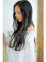 黒髪~グレーへのグラデーションカラー