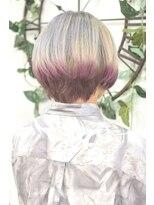 ヘアーサロン エール 原宿(hair salon ailes)(ailes 原宿)style367 ホワイトブリーチ☆エンドピンク