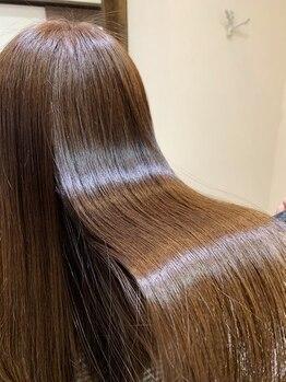 ヘアー ガーデン ルノン(Hair Garden Lunon)の写真/うる艶縮毛矯正☆ダメージレス[Hair Dr]はペタんとなりにくい♪季節の癖毛・ボリュームに悩む方はLunonへ