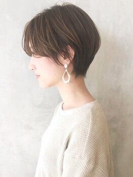 アルバム シンジュク(ALBUM SHINJUKU)の写真/【カット¥2900~】骨格補正カットで小顔に!ごまかしが利かないショートだからこそ卓越した技術が光る☆
