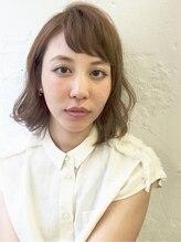 ケンジ 横浜(KENJE)マーメイドシフォンベージュ!!無造作パーマ×オン眉×アッシュ