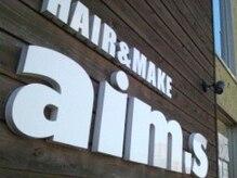 ヘアメイク エイムズ シュアーニューエイジ(HAIR&MAKE aim.s SUR UN NUAGE)の雰囲気(こちらの看板が目印です☆)