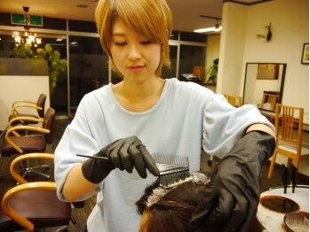 ヘアアンドスパ ラヴチャ(Hair&Spa Love Cha)の写真/髪に優しい低刺激のお薬を使用しているので、くりかえし通っても傷みにくい☆ツヤツヤで美しい仕上りに♪