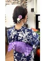 サロンド クラフト(salon de craft)【浴衣】柔らかルーズなシニヨンスタイル♪