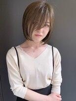 ラウンジ モリオ イケブクロ(Lounge MORIO Ikebukuro)【morio池袋】大人可愛い透け感ショートピスタチオカラー♪
