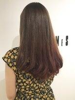フレイムスヘアデザイン(FRAMES hair design)★グレージュベージュ×ピンク×ニュアンシーロング★