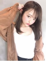 アンジェリカ ハラジュク(Angelica harajuku)Angelica白石研太くびれセミディアッシュベージュエッジショート