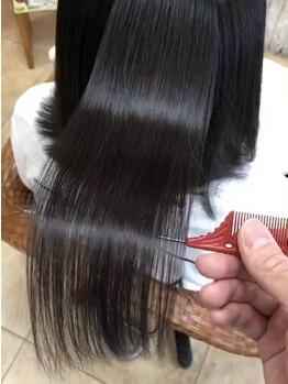 マルールヘアアンドメイク(Mauruuru hair&make)の写真/常にキレイな髪を見せたいなら≪Mauruuru hair&make≫.髪内部からダメージを補修し手触りの良い艶美髪へ◎