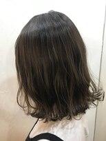 ヘアーアンドメイク ルシア 梅田茶屋町店(hair and make lucia)切りっぱなしボブ★カーキベージュ