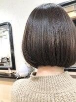 エトネ ヘアーサロン 仙台駅前(eTONe hair salon)柔らかい質感の前下がりボブ20代30代40代