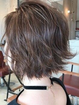 カルム ヘアー エコル(Calm hair ekolu)の写真/【松永】朝のスタイリングは手ぐしでOK♪再現性が高いと好評のカット技術は《Calm hair》で☆