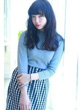 ラファンジュ ヘアーブラン(Rohange hair Blanc)【Blanc】ピュアブラック×ガーリーロング
