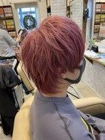 *pink hair × ウルフ*