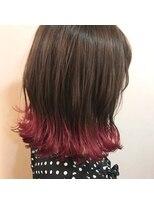 ヴィークス ヘア(vicus hair)裾カラー×チェリーピンク by 井上瑛絵