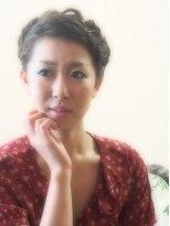 和装の編み上げ&フィッシュボーン画像