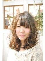 【miel hair blanc】スプリングエアリーミディアム☆パーマ