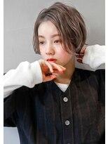 ヘアサロンガリカアオヤマ(hair salon Gallica aoyama)『 ショート× ミルクティー』☆外ハネ☆マニッシュスタイル
