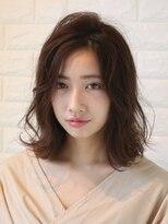 リーズヘアー(+Rees hair)【+Reeshair 】おすすめ☆ゆるふわセミディスタイル