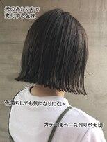 アッシュタカサキ(ash takasaki)大人気☆切りっぱなし外ハネナチュラルボブ×立体感ハイライト