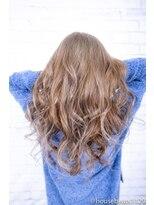 ヘアーメイク ダンス(hair make DANCE)ブリーチカラー透明感のあるホワイトミルクティーベージュ