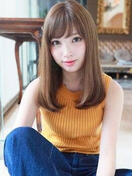 ガレリアエレガンテ 栄店(GALLARIA Elegante)の写真/【栄駅】髪のお悩みを見極めて調合する髪に優しい極上プラチナストレート♪今までにない仕上りをあなたに…