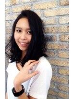 ルミエ ヘアーサロン 駒沢大学駅前店(Lumie hair salon)黒髪でもちょっと巻けば可愛いよスタイル
