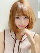 《Agu hair》大人かわいい小顔ナチュラルボブ