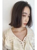 ボヌール 西梅田店(Bonheur)【女性stylist杉崎】大人シンプルボブ