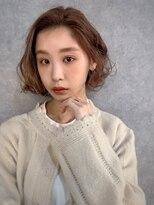 イトシテ【 ナチュラルパーマ × ピンクベージュ 】浅野美紀