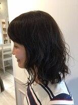 ヘアー カラー キー(HAIR color KEY)ゆるふわミディ『低温デジタルパーマ』