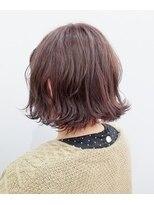 エイム ヘアメイク 横川店(eim HAIR MAKE)切りっぱなしボブ×ピンクバイオレット