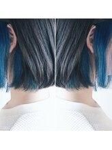 インナーカラー × シアンブルー  by MASAE