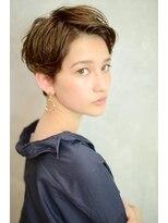 ベックヘアサロン 広尾店(BEKKU hair salon)明るめアッシュブラウンで魅せる、柔らかアップパングショート