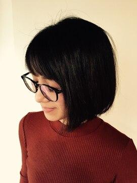 メガネ女子ボブ:L003728343 チェルシー(Chelsea)のヘアカタログ ...