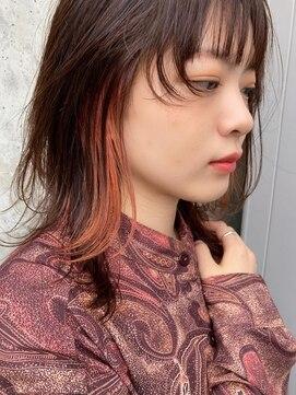 シーク(seek)【seek菜月】orange イヤリングカラー【長野 松本】