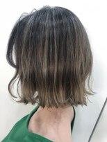 ヘアーアンドメイク ルシア 梅田茶屋町店(hair and make lucia)ホワイトベージュのバレイヤージュ