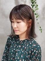 テトヘアー(teto hair)切りっぱなしボブ インナーカラー 韓国スタイル グレージュ