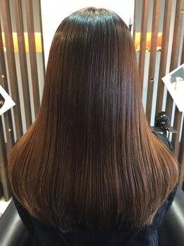 リバーノ 平野店(RIVER-NO)の写真/髪にも頭皮にも優しいオーガニックカラーが大人気♪あなただけの薬剤の調合をし、艶のある褒められる髪に☆