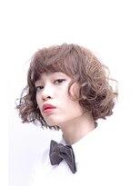 ミンクス ハラジュク(MINX harajuku)【イノセントカラー☆】ウェービーパーマ×ボブ×ショートバング