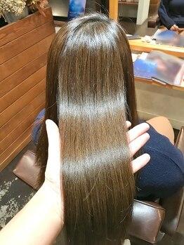 """スープレックス ヘアーデザイン(SOUPREX HAIR DESIGN)の写真/""""水素トリートメント導入""""べたつかずふんわり自然なボリュームが♪つやつやで生まれたてのような髪へ☆"""
