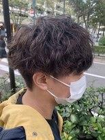スパイラルパーマ/前下がりマッシュ/王道マッシュ