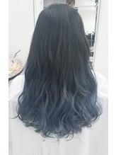ヘアメイク ノワール(hair make noir)ブルージュグラデーションカラー