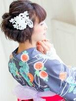 ピノ ウメダ(Pinot UMEDA)浴衣ショート☆モードアレンジ