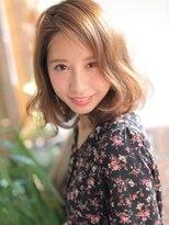 ☆デザインカラー×ツヤ感でオシャレカールボブ☆