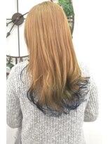 ヘアーサロン エール 原宿(hair salon ailes)(ailes原宿)style311 デザインカラー☆ポイントブルー